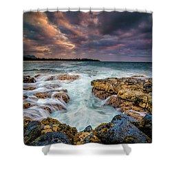 Kauai Ocean Rush Shower Curtain