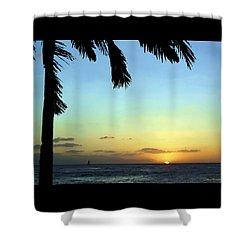 Kauai Sunset Shower Curtain by Ellen Henneke