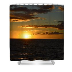 Shower Curtain featuring the photograph Kauai Sunset by James McAdams