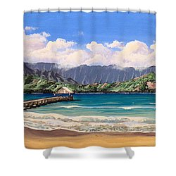Kauai Surf Paradise Shower Curtain