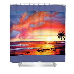 Kauai West Side Sunset Shower Curtain by Marionette Taboniar