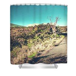 Kaupo Other Road To Hana Sunset Piilani Highway Maui Hawaii Shower Curtain by Sharon Mau