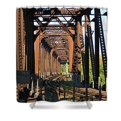 Kaw Point Railroad Bridge Shower Curtain
