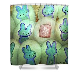 Kawaii Hatchery Crop Shower Curtain