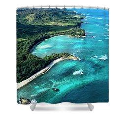 Kawela Bay, Looking West Shower Curtain
