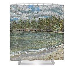 Kawela Bay Shower Curtain by Patti Bruce - Printscapes