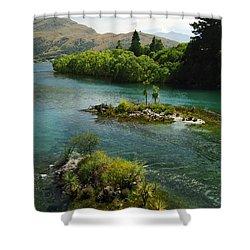 Kawerau River Shower Curtain by Kevin Smith