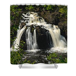Kawishiwi Falls Shower Curtain by Larry Ricker