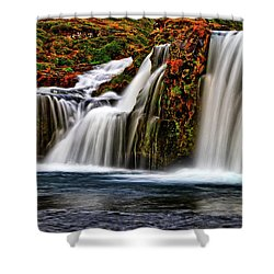 Shower Curtain featuring the photograph Kay Falls by Scott Mahon