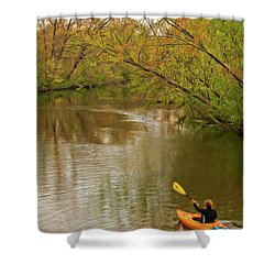 Kayak At Mead Shower Curtain