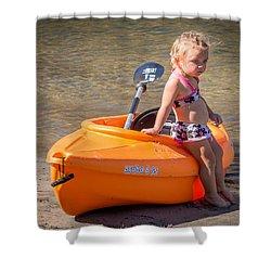 Kayak Girl Shower Curtain