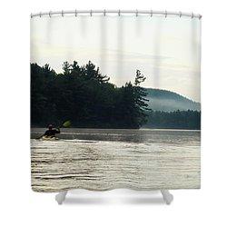 Kayak In The Fog Shower Curtain