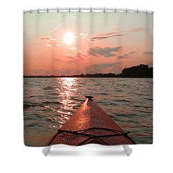 Kayak Sunset Shower Curtain