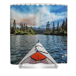 Kayak Views Shower Curtain