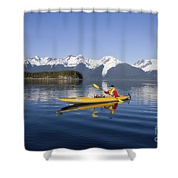 Kayaking Favorite Passage Shower Curtain by John Hyde - Printscapes