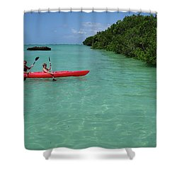 Kayaking Perfection 2 Shower Curtain