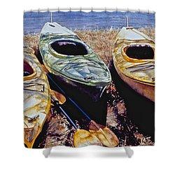 Kayaks Shower Curtain