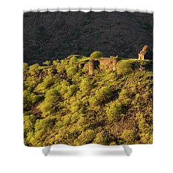 Kayan Fortress At Late Evening, Armenia Shower Curtain