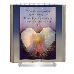 Kaypacha Mantra 3.3.2015 Shower Curtain
