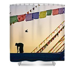 Kdu_nepal_d113 Shower Curtain by Craig Lovell