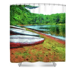 Kearney Lake Beach Shower Curtain