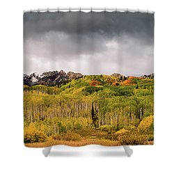 Shower Curtain featuring the photograph Kebler Pass by Stephen Holst