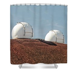 Keck 1 And Keck 2 Shower Curtain by Jim Thompson