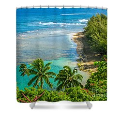 Kee Beach Kauai Shower Curtain