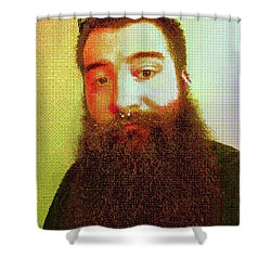 Shower Curtain featuring the digital art Keefer Mosaic by Shawn Dall