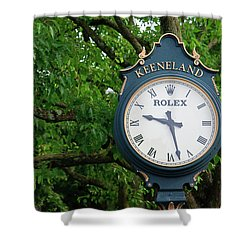 Keeneland Clock Shower Curtain