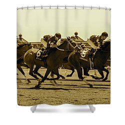 Keenland Sepia Shower Curtain by Dan Hefle
