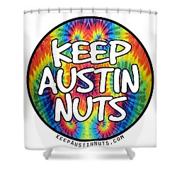 Keep Austin Nuts Shower Curtain
