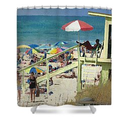 Keep Back 15 Ft Shower Curtain