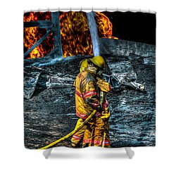 Keep Fire In Your Life No 8 Shower Curtain by Tommy Anderson