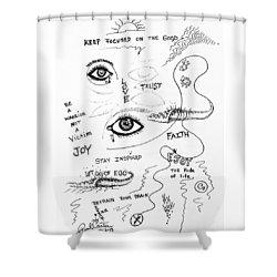 Keep Focused  Shower Curtain