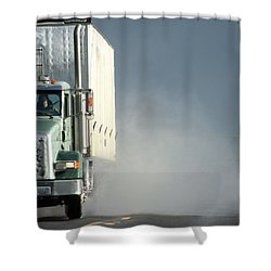 Shower Curtain featuring the photograph Keep On Truckin'... by Holly Ethan
