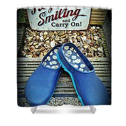 Keep Smiling And Carry On Shower Curtain