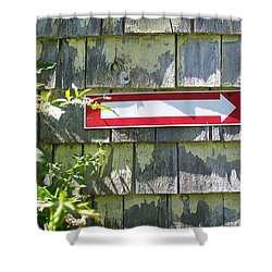 Shower Curtain featuring the digital art Keep To The Right by Barbara S Nickerson