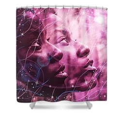 Keep Your Head To The Sky Shower Curtain