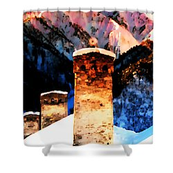 Keeper Of The Light Adishi Svaneti Shower Curtain