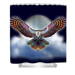 Keeper Of The Night Shower Curtain by Iowan Stone-Flowers
