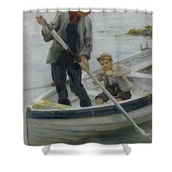 Keeping Her Off Shower Curtain by Henry Scott Tuke