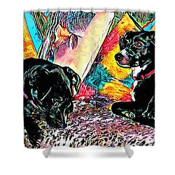 Keeping Themselves Occupied Shower Curtain