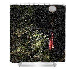 Keeping America  Illuminated.  Shower Curtain