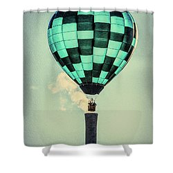 Keeping Warm As You Float Shower Curtain by Bob Orsillo