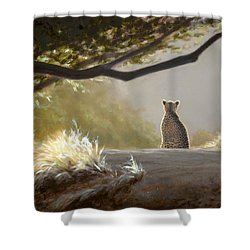 Keeping Watch - Cheetah Shower Curtain
