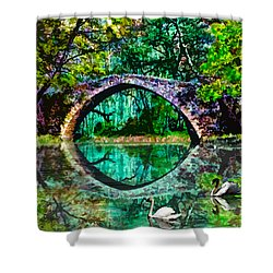 Kefalos Bridge Cyprus Shower Curtain