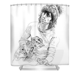 Keith Richards Exile Shower Curtain