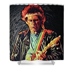 Keith Richards Shower Curtain
