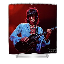 Keith Richards The Riffmaster Shower Curtain by Paul Meijering